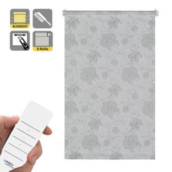 Sonnenschutz Elektrorollo Easyfix Dekor Stickerei silber.jpg