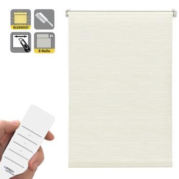 Sonnenschutz Elektrorollo Easyfix Dekor Streifen weiss beige.jpg