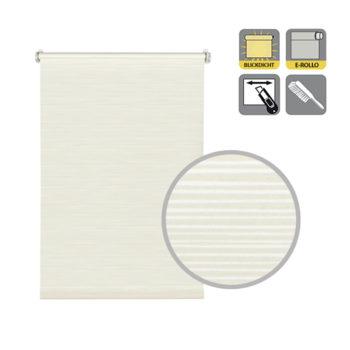 Sonnenschutz Elektrorollo Easyfix Dekor Streifen weiss beige Lupe.jpg