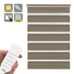Sonnenschutz Elektrorollo Easyfix Doppelrollo mocca