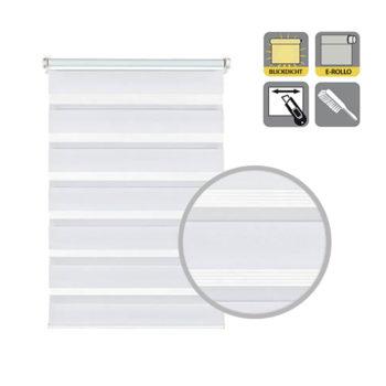 Sonnenschutz Elektrorollo Easyfix Doppelrollo weiss ausschnitt