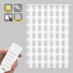 Sonnenschutz Elektrorollo Easyfix Doppelrollo weiss karo