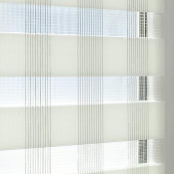 Sonnenschutz Elektrorollo Easyfix Doppelrollo weiss karo einbau 2