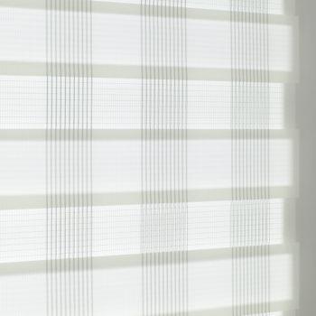 Sonnenschutz Elektrorollo Easyfix Doppelrollo weiss karo einbau 4