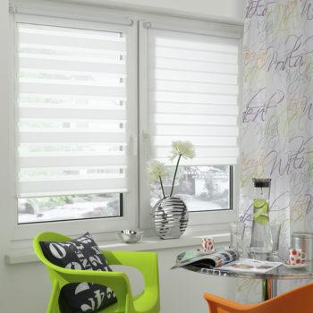 Sonnenschutz Elektrorollo Easyfix Doppelrollo weiss zimmer 2