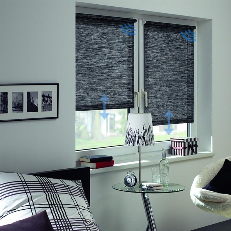 Sonnenschutz Elektrorollo Easyfix Natur black und white Zimmer Symbole 800x800.jpg