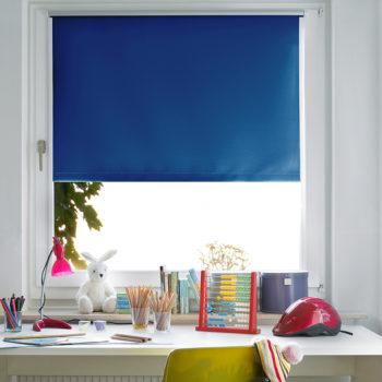 Sonnenschutz Elektrorollo Easyfix Thermo blau Zimmer 1