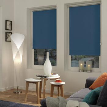Sonnenschutz Elektrorollo Easyfix Thermo blau Zimmer 2