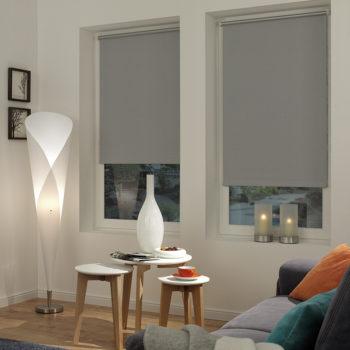 Sonnenschutz Elektrorollo Easyfix Thermo grau Zimmer