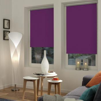Sonnenschutz Elektrorollo Easyfix Thermo lila Zimmer 1