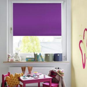 Sonnenschutz Elektrorollo Easyfix Thermo lila Zimmer 2