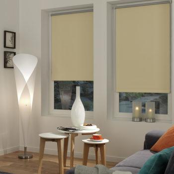 Sonnenschutz Elektrorollo Easyfix Thermo natur weiss Zimmer 1