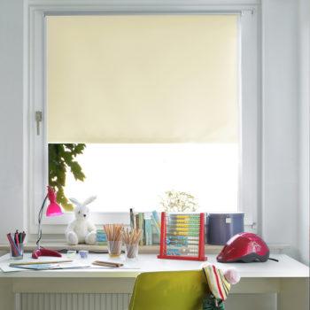 Sonnenschutz Elektrorollo Easyfix Thermo natur weiss Zimmer 2