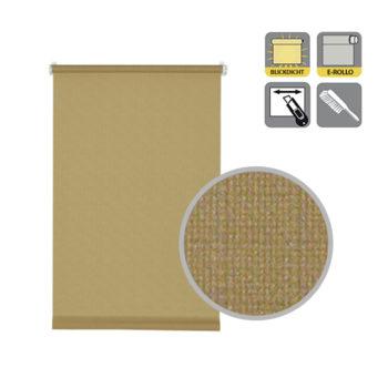 Sonnenschutz Elektrorollo Easyfix Uni braun Struktur Lupe