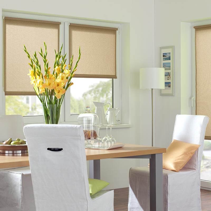 Sonnenschutz Elektrorollo Easyfix Uni braun Struktur Zimmer 1