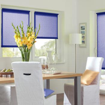 Sonnenschutz Elektrorollo Easyfix Uni dunkelblau Zimmer 1
