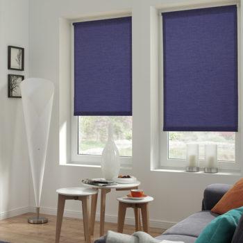 Sonnenschutz Elektrorollo Easyfix Uni dunkelblau Zimmer 2