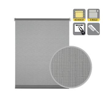 Sonnenschutz Elektrorollo Easyfix Uni hellgrau Lupe