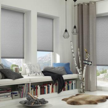 Sonnenschutz Elektrorollo Easyfix Uni hellgrau Zimmer