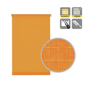 Sonnenschutz Elektrorollo Easyfix Uni orange Struktur Lupe