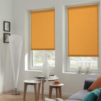 Sonnenschutz Elektrorollo Easyfix Uni orange Struktur Zimmer