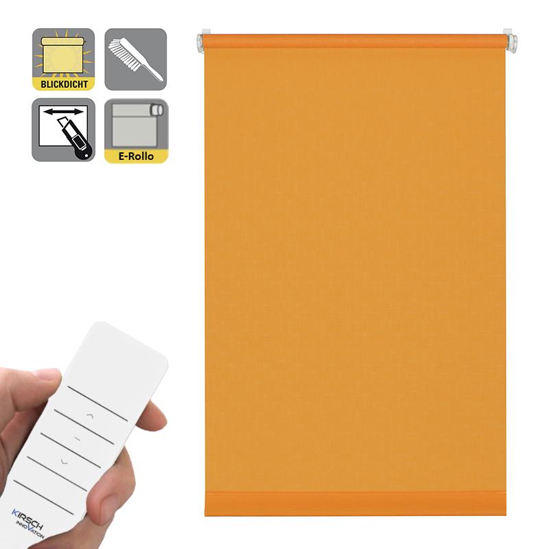 Sonnenschutz Elektrorollo Easyfix Uni orange Struktur